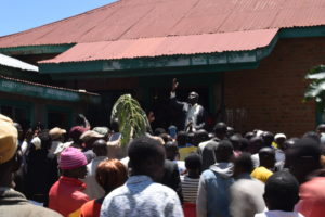Residents took their protests to the West Pokot County Commissioner's office