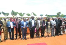 West Pokot County leaders during Mashujaa Day celebrations