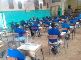 Students at Kitale primary school preparing for the KCPE exam which kicks off on Tuesday