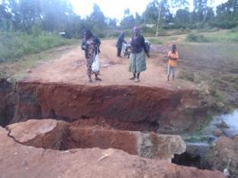 Residents have been affected after the collapse of the Mukuyu bridge