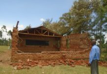The destroyed classroom at Ivona East primary school