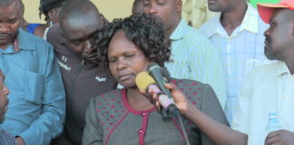 Trans Nzoia woman representative Janet Nangabo in a past function
