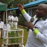 Lugari MP Ayub Savula addressing his constituents