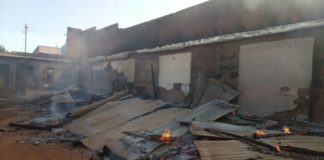 The fire destroyed property worth thousands of shillings