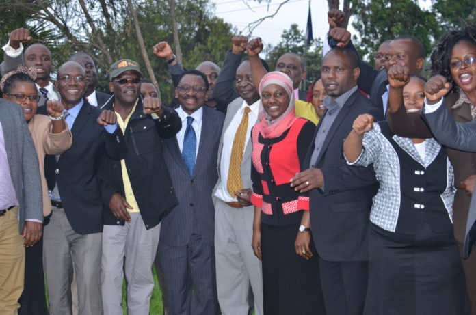NASA leaders with a section of Vihiga County Assembly Members