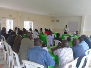 Participants during a stakeholders meeting held at Homelady Guest House