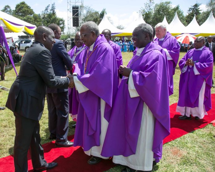 President Uhuru Kenyatta and Deputy President William Ruto eulogized the late Bishop Cornelius Korir as a peacemaker