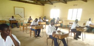 Some of the candidates doing their exams in Lugari
