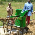 The chaff cutting machine after it had been delivered to Bendera Self Help Group
