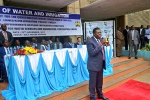 Water Cabinet Secretary Eugene Wamalwa said the Lower Nzoia project will benefit Western Kenya residents