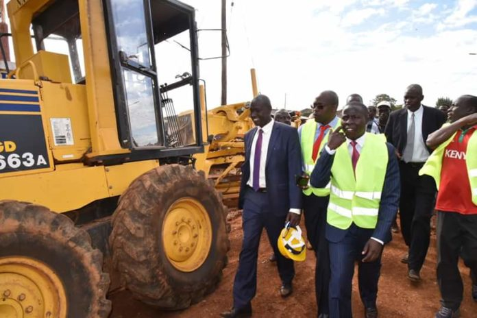 Nandi Governor Stephen Sang during the roads' inspection