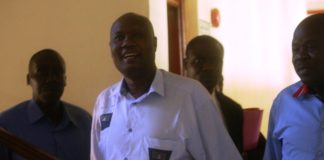 Busia Governor Sospeter Ojaamong in the Busia High Court on Wednesday