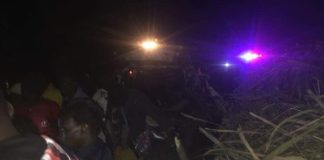 The scene of the accident at Kamukuywa Bridge