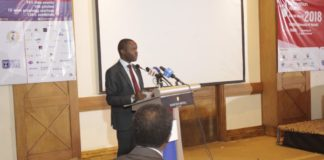 ICT CS Joe Mucheru during the launch of the Nairobi Innovation Week