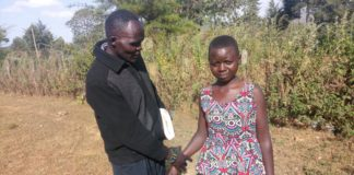 Naomi Chepkemoi (right), from West Pokot County, has resorted to selling her kidney to get school fees