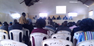 Some of the residents at the public participation meeting in Nandi