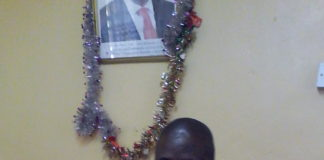 David Sugut, the Kapsabet town administrator, in his office