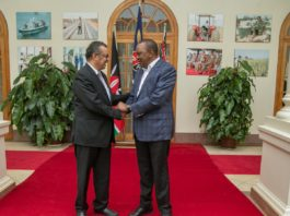WHO Director-General Tedros Ghebreyesus met President Kenyatta at State House on Wednesday