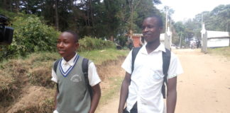 Kapenguria Boys High School students were forced to leave school after it was closed indefinitely