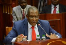 Environment CS nominee Keriako Tobiko during the vetting of CS nominees in Parliament. FILE PHOTO
