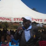 Likuyani MP Dr. Enoch Kibunguchy addressing parents, teachers and students at Matunda SA secondary school
