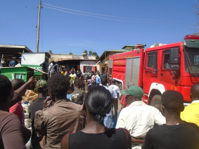 Kipkaren residents at the scene of the incident