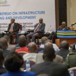 President Uhuru Kenyatta addressing leaders at the Joint EAC Heads of States retreat in Entebbe, Uganda
