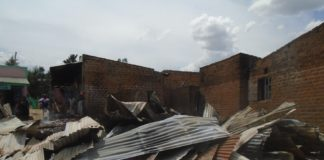 Remains of the business premises at Chimoi trading centre