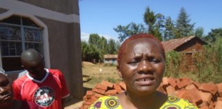 Nominated Senator Getrude Musuruve when she donated construction materials to Mwamba PAG church
