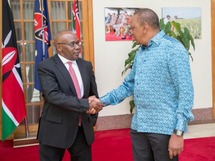 President Kenyatta has nominated Justice Paul Kihara to replace former AG Githu Muigai (left)