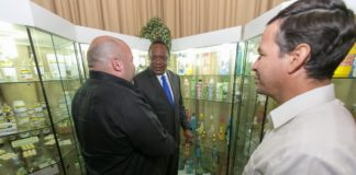 President Uhuru Kenyatta during his visit to leading research and pharmaceutical group, Labiofam in Cuba
