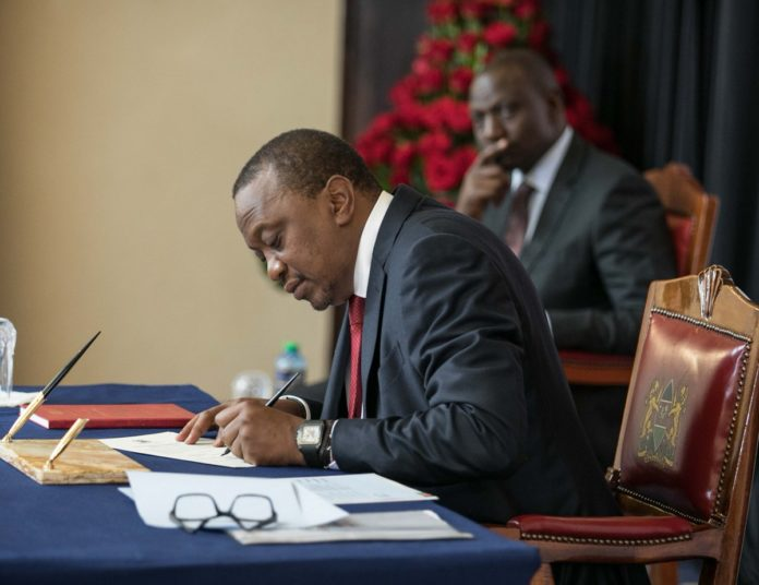 President Uhuru Kenyatta led the swearing-in ceremony of Principal Secretaries and Chief Administrative Secretaries at State House, Nairobi