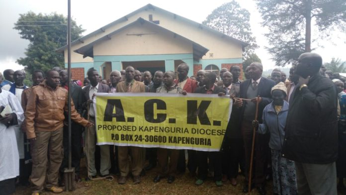 The church members launching the ACK Kapenguria diocese