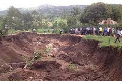 A landslide that occurred a year ago in one of the villages in Hamisi Sub County