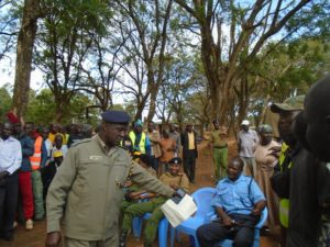 The OCPD directed boda boda operators to get identification cards that show their area of operation