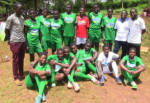 Moi Girls Kamusinga after beating Kwanthanze in the semifinal