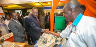 President Uhuru Kenyatta at the UNESCO education conference in Nairobi