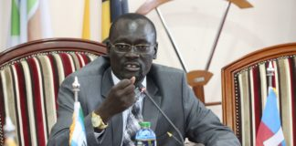 Council of Governors Chairman Josphat Nanok during the meeting