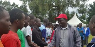 West Pokot Governor John Lonyangapuo was present during the commencement of the KMTC games