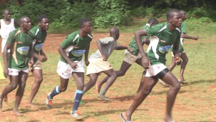Kakamega Boys High School training at Kangaru School