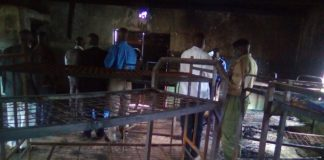 A section of the affected dormitory at St John the Baptist Likuyani Boys High School
