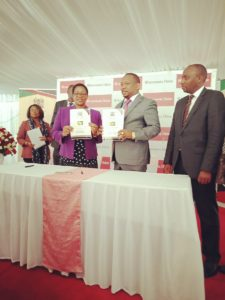 Health CS Sicily Kariuki and Nairobi Governor Mike Sonko