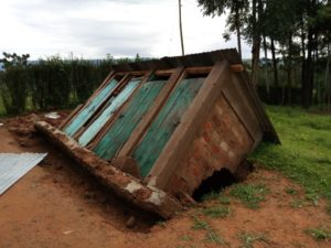 The school's latrines have been affected by the heavy rains