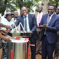 Vihiga Agriculture CEC Paul Mbuni (Right) at a past function