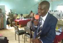 Former Kakamega County Chief of Staff Nabii Nabwera addressing Lugari residents