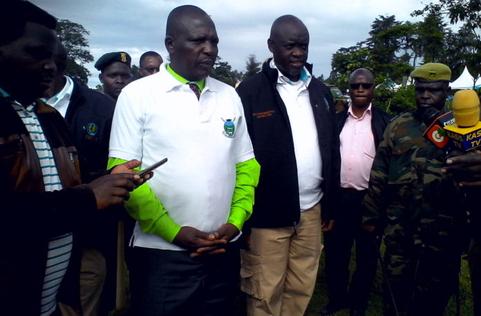 Nandi Chief Officer for Lands, Environment and Natural Resources at Kibirong wetlands in Aldai constituency