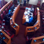 The Nandi County Assembly Education Committee grilling top officials