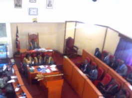 The County Assembly of Nandi during the presentation of 2018/19 budget estimates