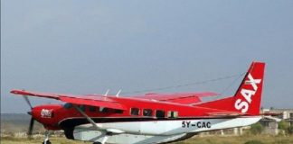 The plane had eight passengers and two crew members