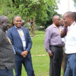 Bungoma County Health CEC Antony Walela (left) with his Makueni counterpart Andrew Mulwa (right)